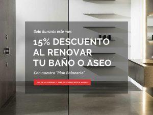 Oferta 15% de Descuento al Reformar tu Baño o Aseo Drékaro
