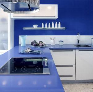 Reformar tu cocina | Encimera de Microcemento con Acabado en Color | Tendencias 2018 Drékaro