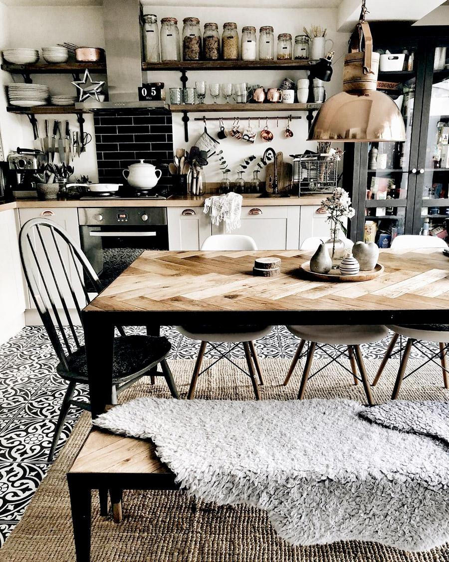 Reformar tu cocina | Estanterías a la vista Cocina Estilo Industrial | Tendencias 2018 Drékaro