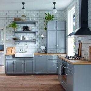 Reformar tu cocina | Estanterías a la vista Cocina Estilo Retro Chic | Tendencias 2018 Drékaro
