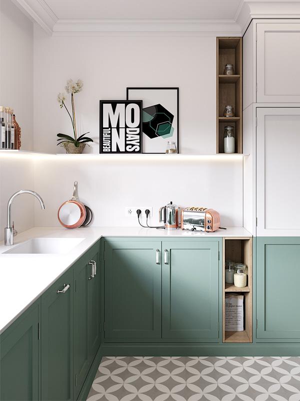 Reformar tu cocina | Suelos Geométricos Estilo Contemporáneo | Tendencias 2018 Drékaro