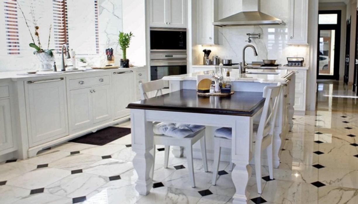 Reformar tu cocina | Suelos Geométricos Estilo Tradicional de Mármol | Tendencias 2018 Drékaro