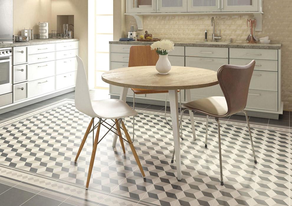 Reformar tu cocina | Suelos Geométricos Baldosas Neumáticas Estilo Contemporáneo | Tendencias 2018 Drékaro