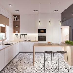 Reformar tu cocina | Suelos Geométricos Baldosas Neumáticas Estilo Retro | Tendencias 2018 Drékaro