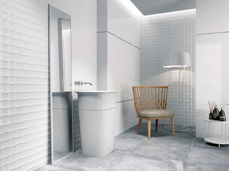 Urban Bath | Azulejos con Textura Fabric Brillo | Especial Baños Pequeños | Tendencias Reformas 2019 | Drékaro