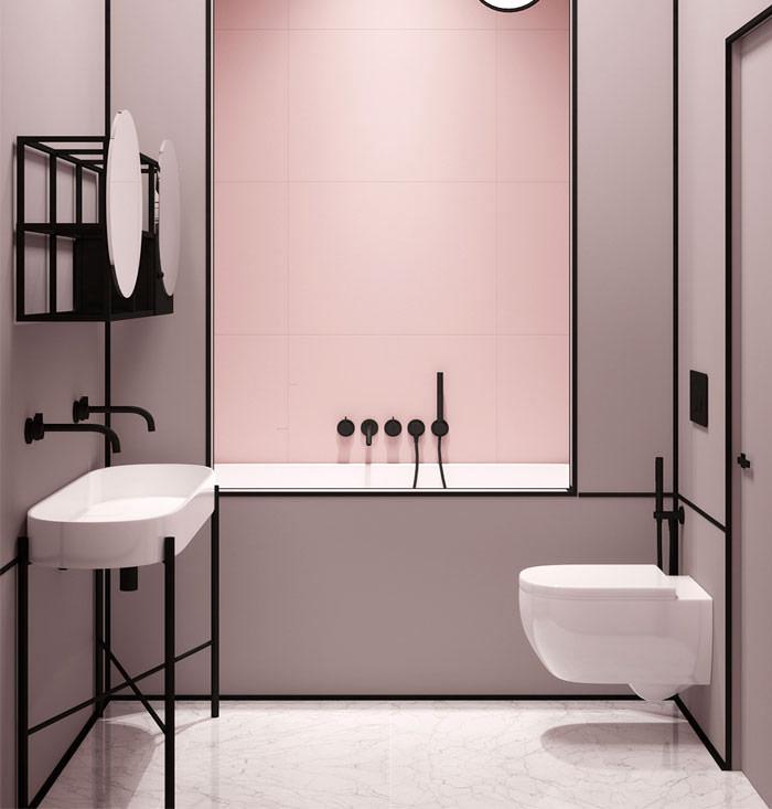 Urban Bath | Combinación de Blanco y Coral | Especial Baños Pequeños | Tendencias Reformas 2019 | Drékaro