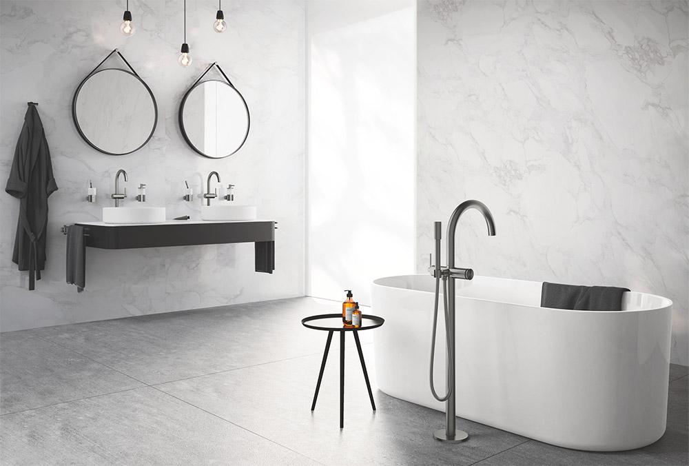 Urban Bath | Panel Ventanal Pared Simulado Retroiluminada | Especial Baños Pequeños | Tendencias Reformas 2019 | Drékaro