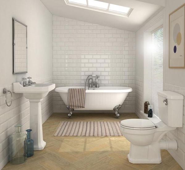 Classic Family Bath | Bañera Retro White | Especial Baños Familiares | Tendencias Reformas 2019 | Drékaro