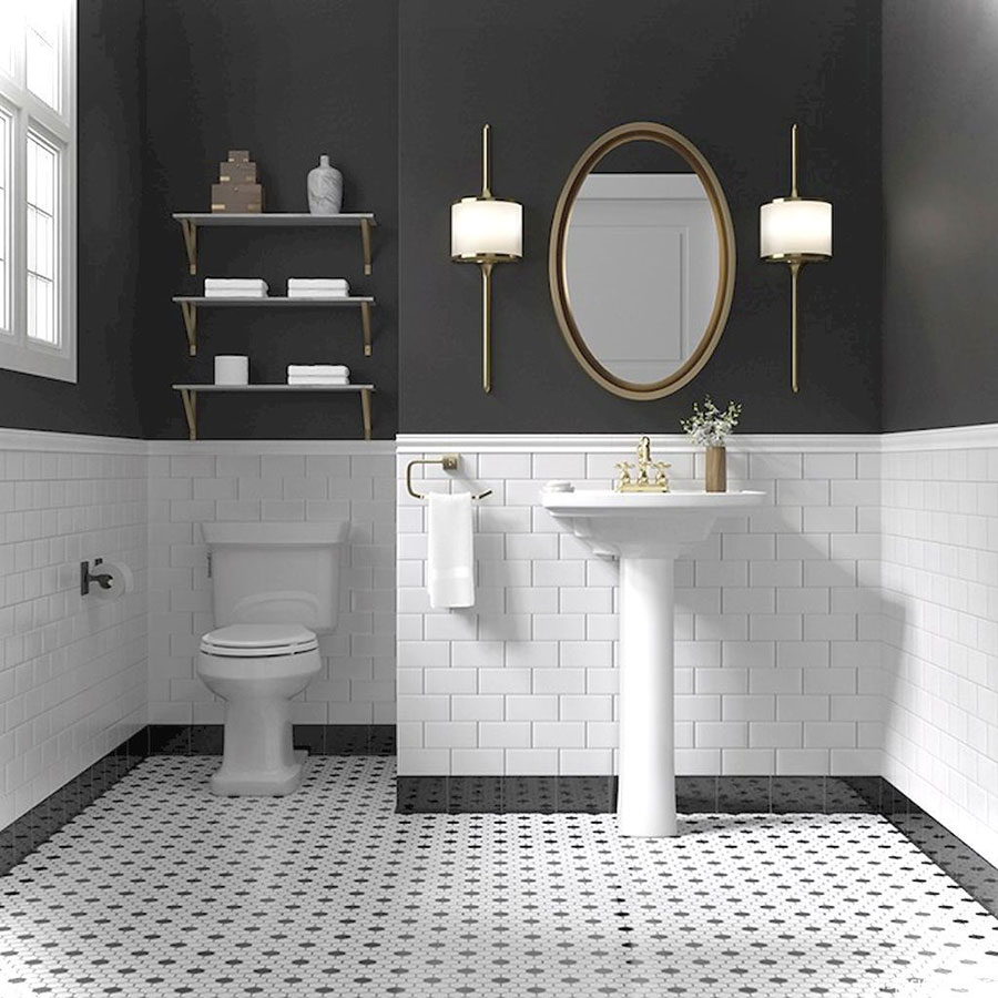 Classic Family Bath | Decoración Elegante con Griferías y Complementos de Cobre | Especial Baños Familiares | Tendencias Reformas 2019 | Drékaro