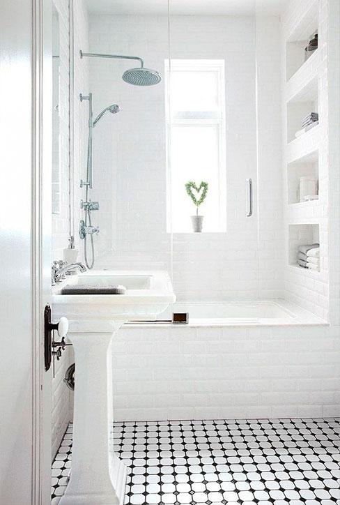 Classic Family Bath | Estanterías de Obra Bañera | Especial Baños Familiares | Tendencias Reformas 2019 | Drékaro