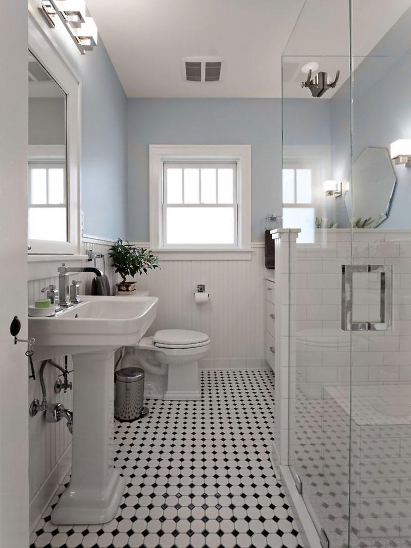 Classic Family Bath | Patrones de Gresite Damero | Especial Baños Familiares | Tendencias Reformas 2019 | Drékaro