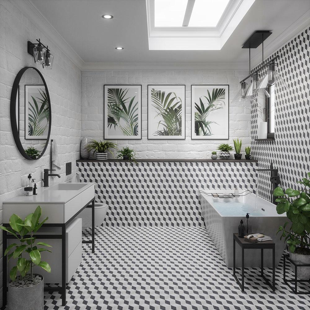Classic Family Bath | Espacios Naturales con Plantas y Motivos Vegetales | Especial Baños Familiares | Tendencias Reformas 2019 | Drékaro