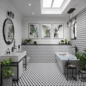Classic Family Bath   Espacios Naturales con Plantas y Motivos Vegetales   Especial Baños Familiares   Tendencias Reformas 2019   Drékaro
