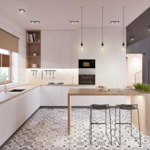 Reformar tu cocina   Suelos Geométricos Baldosas Neumáticas Estilo Retro   Tendencias 2018 Drékaro