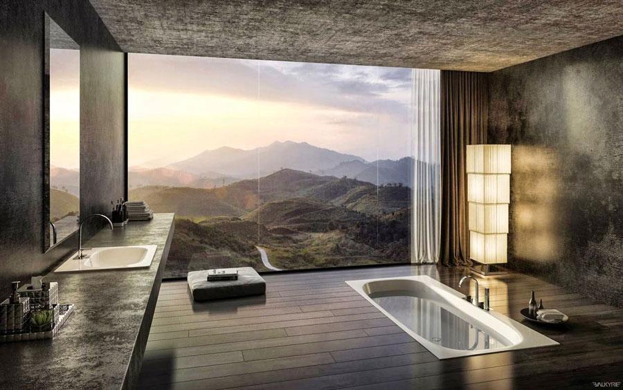 Luxury Spa | Baños con Pared de Cristal con Vistas al Exterior | Especial Baños de Lujo | Tendencias Reformas 2019 | Drékaro
